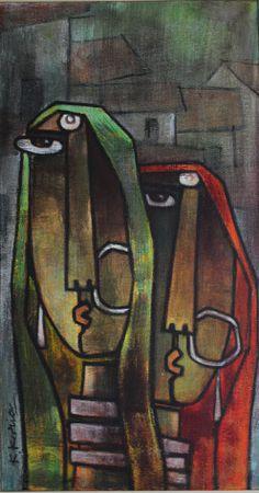 Indian Art Paintings, Modern Art Paintings, Indian Folk Art, Indian Artist, Indian Contemporary Art, Abstract Geometric Art, African Abstract Art, Africa Art, India Art