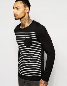 """T-shirt by ASOS Soft-touch jersey Crew neck Chest pocket Regular fit - true to size Machine wash 100% Cotton Our model wears a size Medium and is 185.5cm/6'1"""" tall"""