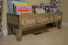 Nursery book shelf baby nursery storage bin by MadisonMadeDecor
