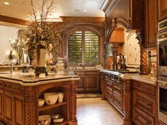 Kitchen Countertops - The Tuscan kitchen design immediately illustrates the image of Italy and sunshine and warmth. The reality of this type of image is a persuasion like what you need and you need to think when you tal… Tuscan Kitchen Design, Farmhouse Style Kitchen, Modern Farmhouse Kitchens, Home Decor Kitchen, Rustic Kitchen, New Kitchen, Tuscan Kitchens, Kitchen Ideas, Country Kitchen