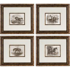 Complement country-chic decor in the living room or create a lovely focal point in the den with this framed and matted decor, showcasing a horse motif. ...