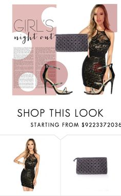 """A girls night out."" by amiclubwear ❤ liked on Polyvore featuring lacedress, wallet, higheels and amiclubwear"