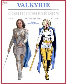 "6,263 Likes, 208 Comments - • Accurate.MCU • mcu fanpage (@accurate.mcu) on Instagram: ""• VALKYRIE - COMIC COMPARISON • So I decided to finally Do a Valkyrie comparison but i was…"""