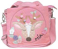 Einhorn f/ür M/ädchen in pink individuell mit Name Bedruckt Kinderrucksack Motiv ideal f/ür Kita//Kindergarten Kindergartenrucksack