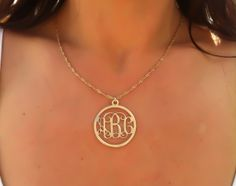 Circle Monogram Necklace 125'' Monogrammed by MonogramPersonalized, $45.99