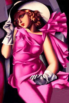 Tamara de Lempicka Young Girl in Pink Art Deco High Fashion Poster Print 211    eBay