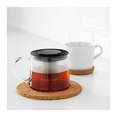 RIKLIG Teapot, glass - IKEA $9.99
