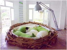 Very cleverly partnered with the oversized Anglepoise lamp; the Birds Nest bed by Merav Eitan and Gaston Zahr would work beautifully in an attic flat, or perhaps a tree house or garden folly.  Visit the o*ge creative group's website for many more innovative projects.  Their motto is … LIFE IS NOT MEASURED BY THE NUMBER OF BREATHS YOU TAKE, BUT RATHER BY WHAT TAKES YOUR BREATH AWAY…