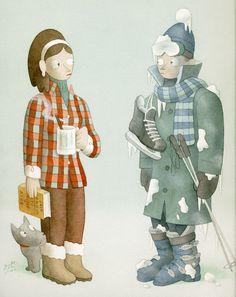 Some read and other ski / Unas leen y otros esquian by Greg Clarke