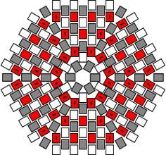 Hexagonal Flat Peyote Worked In Rounds Tutorial