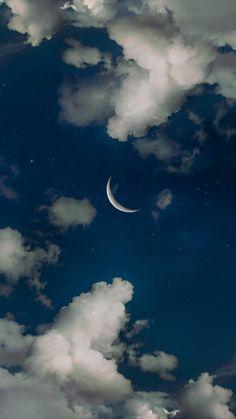 Crescent moon the night sky Halbmond der Nachthimmel mir