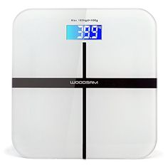 Body Digital Bathroom Scale, Woodsam (TM) Personal Glass Weight Scale for Health and Fitness with LCD Screen and a 360lb Maximum Capacity (White) ** See this great product.
