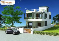 Modern duplex (2 floor) design. Click on this link (http://www.apnaghar.co.in/house-design-371.aspx ) to view free floor plans (naksha) and other specifications for this design. You may be asked to signup and login. Website: www.apnaghar.co.in, Toll-Free No.- 1800-102-9440, Email: support@apnaghar.co.in