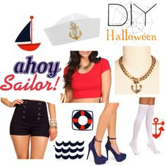 """DIY: Sailor Girl"" by windsorstore on Polyvore"