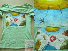 Monikin svet: Maľované tričko Krajina vymyslená