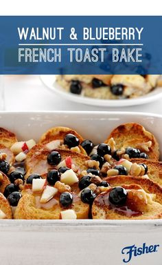 Try this sweet and nutty make-ahead FISHER Walnut & Blueberry French Toast Bake recipe for your next breakfast or brunch get-together. The burst of sweet blueberries pairs perfectly with the crunch of FISHER Walnuts.