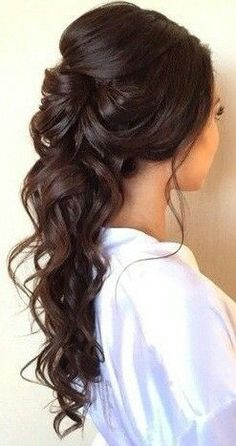 wedding hair hair jewellery hair styles for long hair down hair for shoulder length wedding hair dos for wedding hair hair to side wedding hair styles Romantic Wedding Hair, Wedding Hair Down, Wedding Hair And Makeup, Hair Makeup, Trendy Wedding, Romantic Weddings, Wedding Ideas, Makeup Hairstyle, Easy Hairstyle