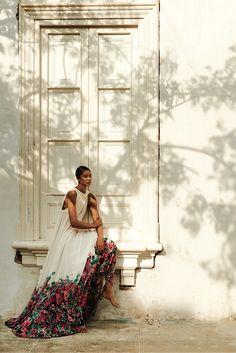 Chanel iman in ELIE SAAB by alexander neumann