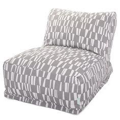 Majestic Home Goods 85907220367 Gray Sticks Bean Bag Chair Lounger
