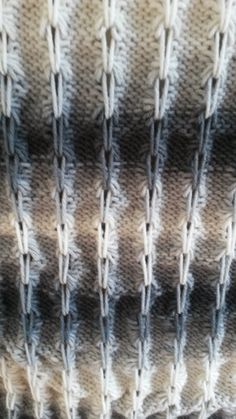 How to knit bamboo stitches