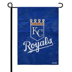 "Kansas City Royals 12.5"" x 19"" Applique Double-Sided Garden Flag - $11.99"