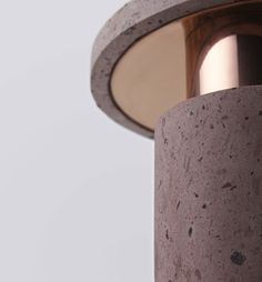 Ambra by studio davidpompa is a beautiful and poetic way to combine two materials as the cantera and copper in one piece, creating different visual levels in a simple and modern object. David Pompa, Copper Table Lamp, Table Lamps, Rock Lamp, Volcanic Rock, Mexican Designs, Pendant Lighting, Branding Design, Lights
