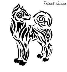 Akita tribal tattoo.