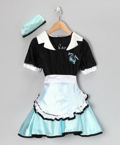 Rubie's Black & White Car Hop Dress-Up Set - Kids - Made in the USA