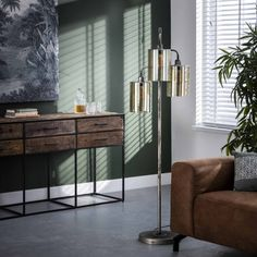 Gulvlampe i metal og glas Metal, Corning Glass, Metals