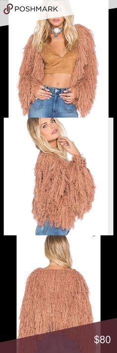Revolve Tularosa bardot jacket Orange shag jacket Tularosa Jackets & Coats