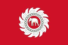 State ensign of Siam Thai Elephant, Full Moon Party, Party Expert, Blue Peter, Alternate History, Flags Of The World, Koh Tao, Volkswagen Logo, National Flag