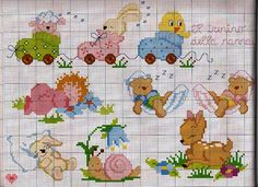 Cross stitch patterns for baby blanket the magic - free cross stitch patterns crochet knitting amigurumi Baby Cross Stitch Patterns, Cross Stitch Baby, Cross Stitch Animals, Cross Stitch Designs, Baby Embroidery, Cross Stitch Embroidery, Embroidery Patterns, Cross Stitch Cards, Cross Stitching