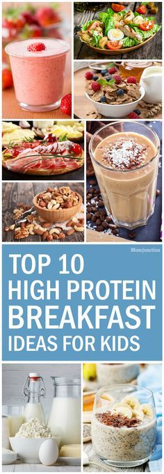 Top 10 High Protein Breakfast Ideas For Kids: check out our ten recommendations that are full of protein.