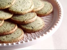 Earl Grey Shortbread Cookies recipe from Claire Robinson via Food Network