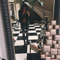 This stark colour combo is a favourite of the entire Kardashian family, including Kylie.