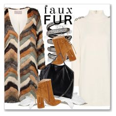 """""""Faux Fur Coats"""" by andrejae ❤ liked on Polyvore featuring Tart, Burberry, Fallon, Kristin Cavallari, STELLA McCARTNEY, polyvoreeditorial, polyvorecontest and fauxfurcoats"""