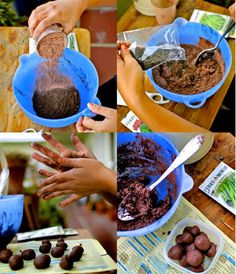 The Art of Seed Bombing : Combine two parts mixed flower seeds with three parts compost; stir in five parts powdered clay, and moisten with water. Form balls one inch in diameter; let dry for 24 to 48 hours (stash in an empty egg carton). Throw everywhere and flowers will grow !!!