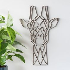 Buy the Geometric Giraffe Wall Art - Poplar from our stunning Wall Décor collection at Red Candy, the home of quirky decor! 3d Wall Decor, Wall Decor Design, Wall Art Designs, 3d Wall Art, Geometric Wall, Geometric Shapes, Geometric Elephant, Geometric Animal, 3d Wanddekor