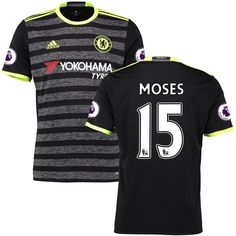 6fa1c1422817 Victor Moses Chelsea adidas 2016 17 Away Replica Jersey - Black Tumblr