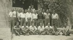 """Spain - 1937. - GC - """"Grupo de oficiales de la Legión Cóndor en el Monasterio de Santo Tomás. Ávila,"""