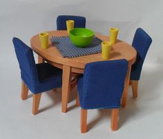 Lundby Dining Room [2004] Car Boot Sale, Dining Chairs, Dining Room, Dollhouse Furniture, Shed, Home Decor, Lean To Shed, Decoration Home, Room Decor