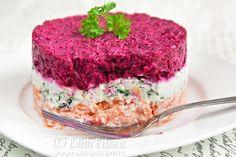 salata in straturi 1 Weekly Menu, Tiramisu, Pudding, Lunch, Cooking, Ethnic Recipes, Desserts, Food, Pretty