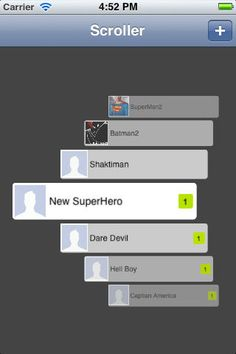 Seems to be a new cool way of interacting with a list on iOS