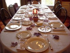 formal placesetting for eight [8] course dinner | entertaining