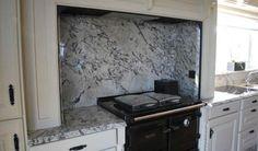 ICE BLUE granite wall install