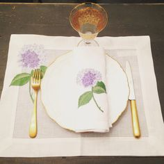 Set de table hortensia