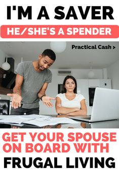Does your spouse spend too much? Is it affecting your money and relationships? What to Do If Your Spouse Isn't Frugal Money Saving Mom, Money Saving Challenge, Ways To Save Money, Money Tips, Money Hacks, Savings Plan, Managing Your Money, Frugal Living Tips, Debt Payoff