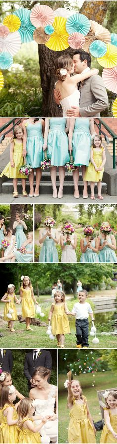 Colorful Wedding + paper decoration | Decoração de papel colorido