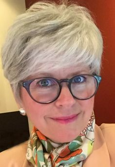 grey matters: hello again Grey Hair Over 50, Hair Cuts For Over 50, Hair Styles For Women Over 50, Short Grey Hair, Short Hair Cuts For Women, Short Hair Styles, Short Shag Hairstyles, Very Short Haircuts, Hairstyles Over 50