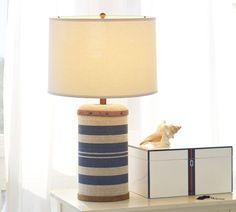 Pottery barn - Driscoll Striped Barrel Table Lamp